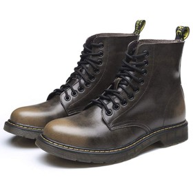[イグル] メンズ サイドゴア チェルシーブーツ メンズブーツ ミドルカット ビジネス トレンド 秋冬 滑り止め 歩きやすい ブラック おしゃれ 大きいサイズ 防水 コンフォート 25.5cm マーティンブーツ ワークブーツ ブラウン 作業靴 通勤