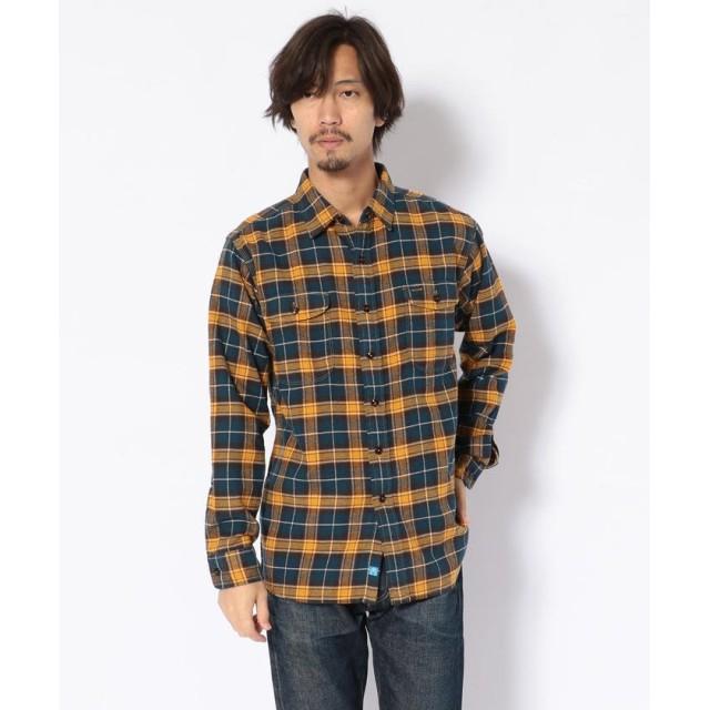 ビーバー KATO'/カトー ビエラチェックワークシャツ メンズ BLUE M 【BEAVER】