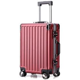 レトロトロリーケース、アルミフレームトロリーケース、シャーシにチェックイン、防水性とウェアラブルトラベルケース、軽量スーツケース-Redwine