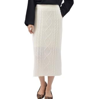 (アール・ピー・エス) r・p・s ケーブル編みタイトスカート 0520900913 M アイボリー