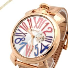 ガガミラノ Gaga Milano メンズ・レディース腕時計 マヌアーレスリム 46mm MANUALE SLIM GOLD PLATE ゴールド 5081.1 [在庫品]