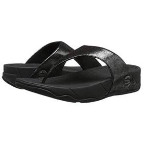 [フィットフロップ] レディースサンダル・靴 Lulu Shimmersuede Black (26cm) M (B) [並行輸入品]
