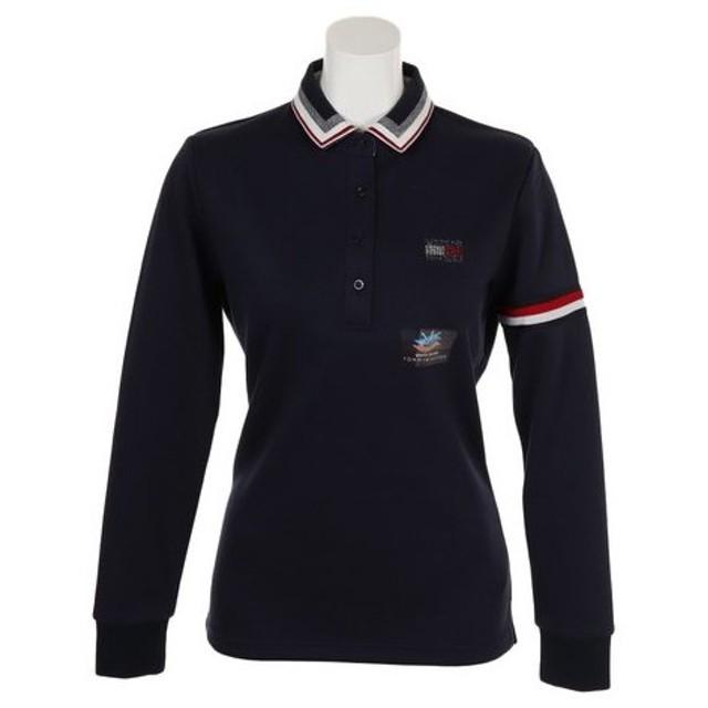 トミーヒルフィガー(TOMMY HILFIGER) ゴルフウェア レディース BASIC 長袖ポロシャツ THLA863-NVY (Lady's)