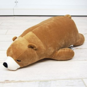 ねむねむプレミアム    抱き枕M BEIGE クマのクッキー