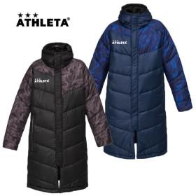 ATHLETA アスレタベンチコート 04123 大人用 中綿ロングコート 70(BLK)、90(NVY) 2018秋冬モデル