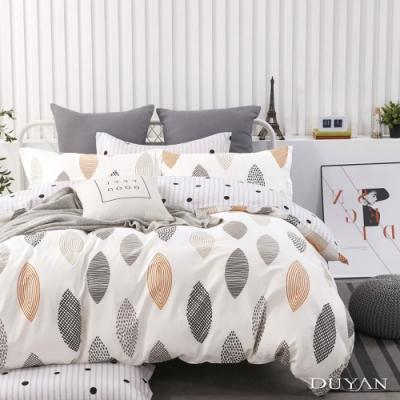 DUYAN竹漾-100%精梳純棉-雙人床包被套四件組-漫步里加 台灣製