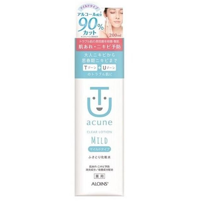 アロインス化粧品  アキュネ 薬用 ふきとり化粧水 マイルド