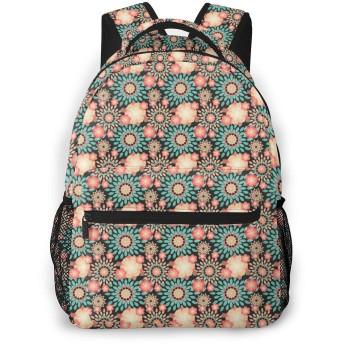 バックパック 幾何の図案 花柄 PCリュック ビジネスリュック バッグ 防水バックパック 多機能 通学 出張 旅行用デイパック