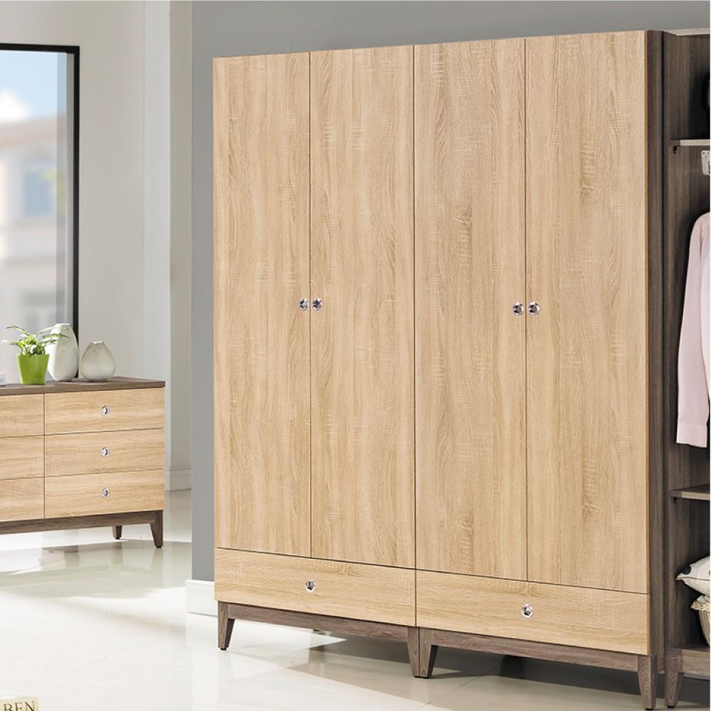 【AS】艾妮可3x7開門衣櫥