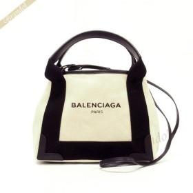 バレンシアガ Balenciaga レディース ショルダーバッグ カバ XS 2way キャンバストート ナチュラル×ブラック 390346 AQ38N 1081 [在庫品]