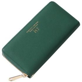 財布 レディース 長財布 大容量 男女兼用 財布 軽い 小銭入れ 7色 ウォレット スマホ入れ可 12カード入れ (グリーン)
