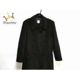 アニエスベー agnes b コート サイズ3 L レディース 新品同様 黒 冬物/ロング丈 新着 20190922