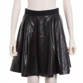ランバンオンブルー フェイクレザー スカート サイズ38 レディース ブラウン