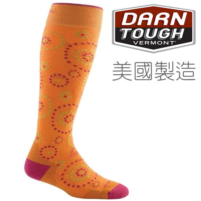 Darn Tough 羊毛襪/登山襪/保暖襪/美麗諾羊毛雪襪 DARNTOUGH 女款Starry Night 1836 橘色