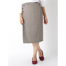 【大きいサイズレディース】【新作】【大きいサイズレディース】EVLOVE(イヴロヴ)スカートラップ風ナローペンシル スカート タイトスカート