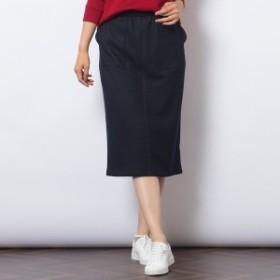 ピサーノ(PISANO)/[大きいサイズ/L・LL]裏フリース・デニム風タイトスカート