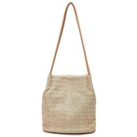 ストローハンドバッグレザーハンドバッグショルダーバッグ婦人服、手作り草織り磁気バックルトラベルハンドバッグサマービーチホリデーハンドバッグ財布トラベルショルダーバッグホワイト