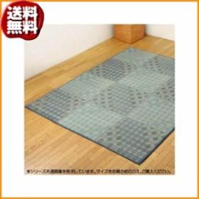 (送料無料)い草ラグカーペット 『NSPサークル』 ブルー 約200×200cm 8451420