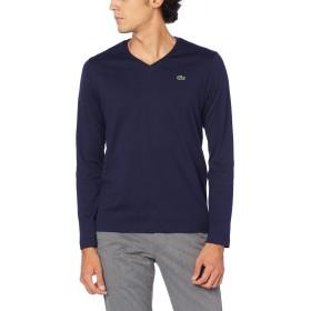 [ラコステ] TEE SHIRTS [公式] VネックTシャツ (長袖) メンズ ネイビー EU 002 (日本サイズS相当)