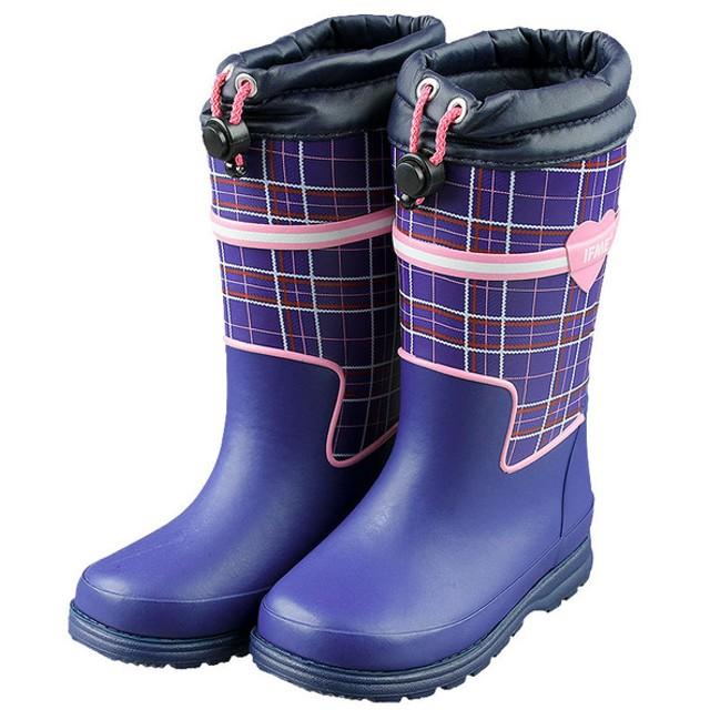 [15.0~18.0cm]イフミー ブーツ ネイビー シューズ・ファッション小物 ブーツ (44)