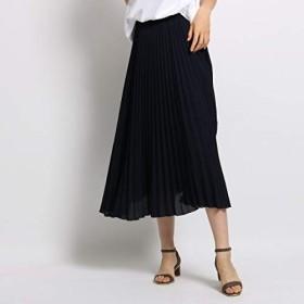 インディヴィ(INDIVI) 【マシンウォッシュ】スローププリーツスカート【ネイビー(093)/40(L)】
