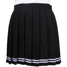 Romancly レディースかわいいフリルキャンディカラーシムショート鉛筆スカート 5 XXS