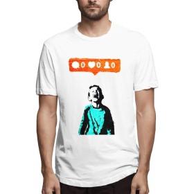 KKF バンクシー ストリート Banksy Tシャツ メンズ 無地 半袖 おもしろシャツ おしゃれ 夏 メンズシャツ レディースシャツ 青年 快適 丸襟 XXL