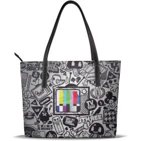 バッグ トートバッグ グラフィティアートの絵画 ハンドバッグ ショルダーバッグ 革 収納 大容量 軽量 防水 盗難防止 誕生日 入学式 母の日 ビジネス 旅行 多機能