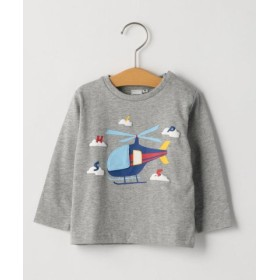 (SHIPS KIDS/シップス キッズ)SHIPS KIDS:かくれんぼ TEE(80-90cm)/レディース グレー