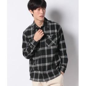 メラン クルージュ リンク ビエラチェックビッグシャツ メンズ メンズ ブラック M 【Melan Cleuge】