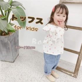 子供服 女の子 ブラウス シャツ キッズ ベビー服 トップス 韓国 ジュニア 子供 安い おしゃれ セール 80cm/90cm/100cm/110cm/120cm