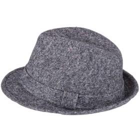 メンズ 紳士帽子 中折れハット ユニセックス ウールハット 男女兼用 大きいサイズ フェルト帽子 春 秋 冬 おしゃれ 人気 58CM (グレー)