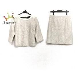 アンタイトル UNTITLED スカートセットアップ サイズ2 M レディース 美品 アイボリー×ベージュ 新着 20190922