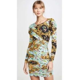 ヴェルサーチ Versace Jeans Couture レディース ワンピース ミニ丈 ワンピース・ドレス Puff Sleeve Mini Dress Menta