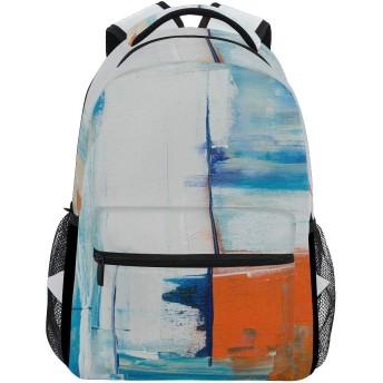 バックパック旅行抽象絵画スクールブックバッグショルダーラップトップデイパックカレッジバッグ用レディースメンズボーイズガールズ