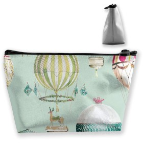 Makeup Bag for Purse Travel Makeup Pouch Mini Cosmetic Bag for Women Girls Deer and Mushroom