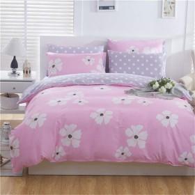 寝具カバーセット ホームインテリア、快適な、耐久性のある、低刺激性に適した4つの綿の高品位高密度起毛ベッドリネン枕の4つのベッド寝具セット 非常に柔らかいです (サイズ : 1.8m)