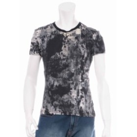 ジョンガリアーノ コットン Tシャツ サイズM メンズ ブラック
