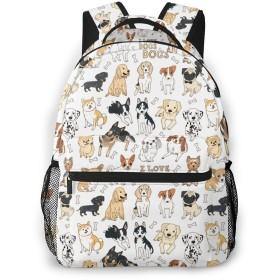 バックパック リュックサック 犬の群れ 犬柄 動物柄 ビジネス カジュアル リュック 軽量 超大容量 多機能 衝撃吸収 おしゃれ 通勤 通学 旅行 登山 出張 メンズ レディース