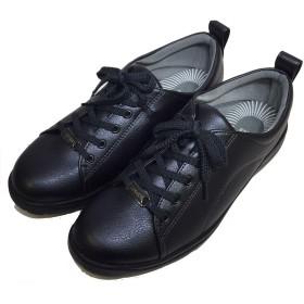 [パンジー] スニーカー レディース 幅広 軽量 カジュアルシューズ 3E 軽い シューズ 靴 ローカットシューズ 春 夏 女性 婦人(ブラック 24.5cm)