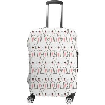 ZHIMI スーツケースカバー キャリーカバー お荷物 保護 通気性 可愛い 兎柄 伸縮性能抜群 ポリエステル 防塵カバー 国内 海外旅行 便利 おしゃれ 洗える 着脱簡単 1枚入り