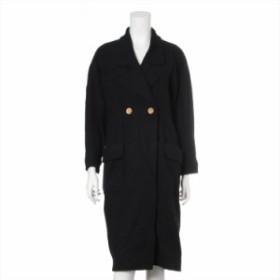 シャネル ウール ロングコート サイズ36 レディース ブラック