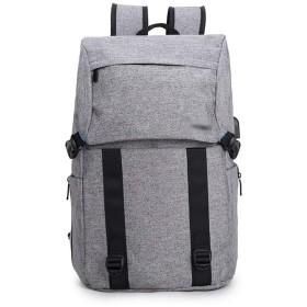 YIKETING 男性用バックパック多機能ショルダーコンピューターバッグ17インチ男性 (色 : グレー, サイズ : 17inch)