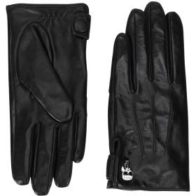 《期間限定セール開催中!》KARL LAGERFELD レディース 手袋 ブラック S/M 山羊革 100% K/IKONIK PIN LONG GLOVE