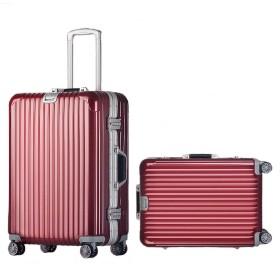 スーツケース 中型 小型 ダイヤル式 (小型、S, ワインレッド)