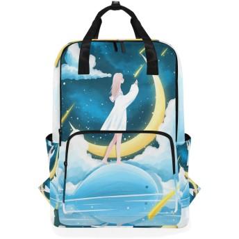 ブルームーンエンジェルのための肩のバックパックの学生の軽量のおむつ袋旅行余暇子供の女の子の男の子