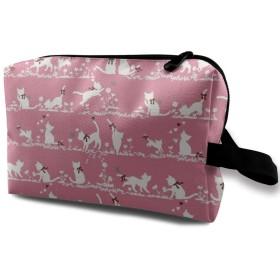 化粧ポーチ かわいい猫 携帯用 化粧ポーチ 大容量 軽い 旅行ポーチ 洗面用具入れ 化粧ポーチ 収納 ハンドバッグ 財布 防水