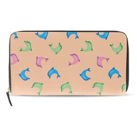財布 小銭入れ 日本製抽象的なイルカ柄