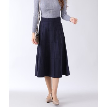【30%OFF】 ブルーイースト ジャガード織りニットスカート レディース ネイビー M 【BLUEEAST】 【セール開催中】