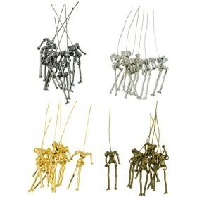 dailymall 24ピース金属人間スケルトンボディDIY人形ペンダントジュエリー作りクラフト